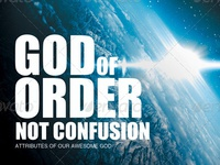 God of Order Church Flyer Template