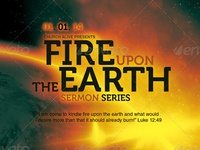 Fire Upon The Earth Church Flyer Template