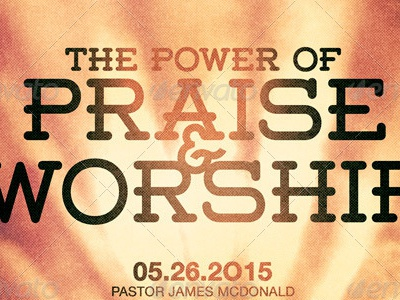 Power Of Praise And Worship Church Flyer Template