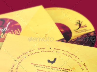 The Third Denial CD Artwork Template Image Preview