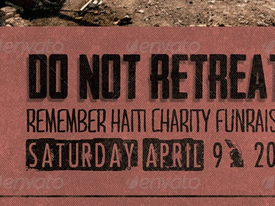do not retreat charity flyer template by mark taylor dribbble
