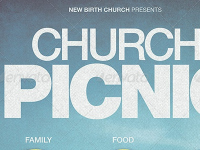 Church Picnic Flyer Template By Mark Taylor Dribbble