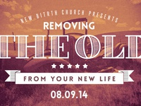 Removing The Old Church Postcard Template