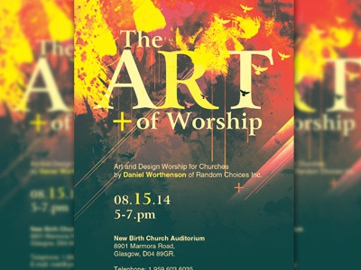 The Art Of Worship Church Flyer Template Workshop Conference Creative Designs Design