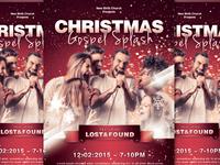 Christmas Gospel Splash Church Flyer Template