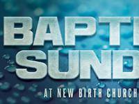Baptism Sunday Church Flyer Template