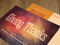 Giving Thanks Church Postcard Template