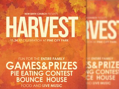 harvest celebration church flyer inspiks a