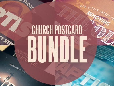 Church Postcard Template Bundle by Mark Taylor - Dribbble