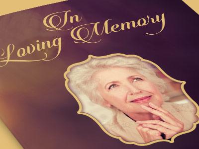 In Loving Memory Funeral Program