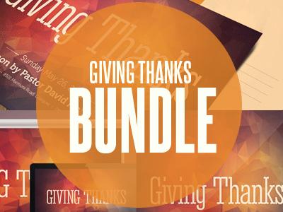 Giving Thanks Church Template Bundle