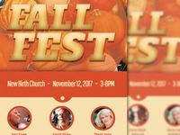 Fall Fest Church Flyer Template