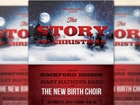 The Story of Christmas Church Flyer Template