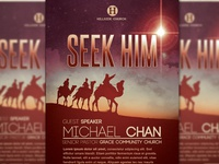 Seek Him Church Flyer Template