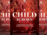 A Child Is Born Church Flyer Template