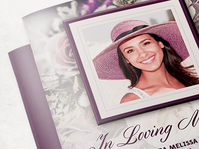 Purple Rose Funeral Program Template By Mark Taylor Dribbble