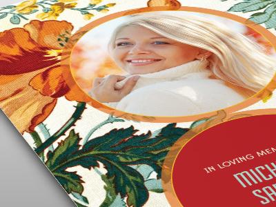 Floral Beauty Funeral Program Template