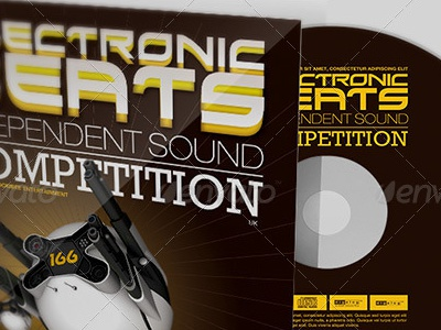 Electronic Beats Cd Artwork Template recording studio recording artist record label rap promotional arsenal promotion poetry cd photoshop music promotion mixtapes mix tape