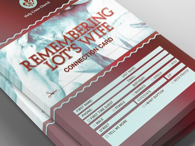 Remembering Lots Wife Church Connection Card Template