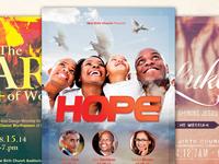 Hope Church Flyer Template Bundle