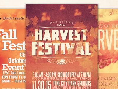 church harvest flyer bundle image preview f