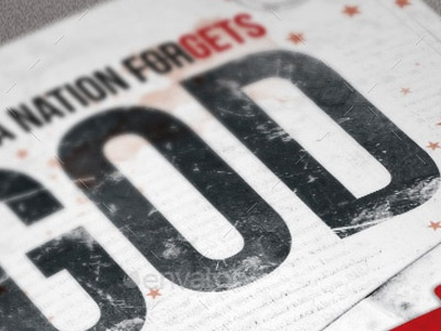 When A Nation Forgets God Poster Template designs for churches creative designs church promotion church posters church poster templates church marketing church christian army templates american history album 4th july poster