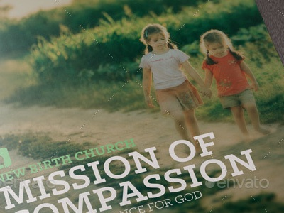 Mission Of Compassion Church Brochure youth startup seminar rescue poor planner non-profit modern missions brochure missions missionary