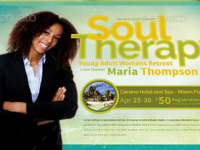Soul Therapy Church Flyer Template youth retreat youth camp worship womens conference women retreat vacation flyer teachers summit revival retreat prayer breakfast praise