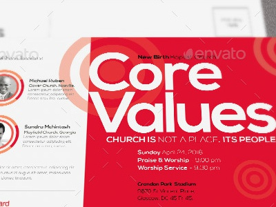Core Values Church Flyer Template By Mark Taylor Dribbble Dribbble