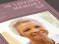 Memory of You Funeral Program Template