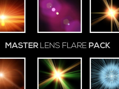 Master Lens Flare Pack yellow screen saturation red purple png pack orange optical flares master flare mask loswl