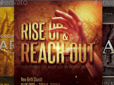 Rise Church Marketing Flyer Bundle fall easter cross company church marketing church christ celebration bible study best flyer autumn