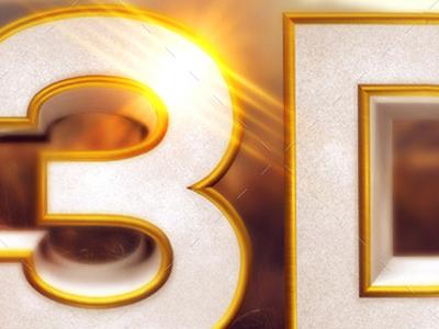 Gold beveled 3d text and symbols tmb