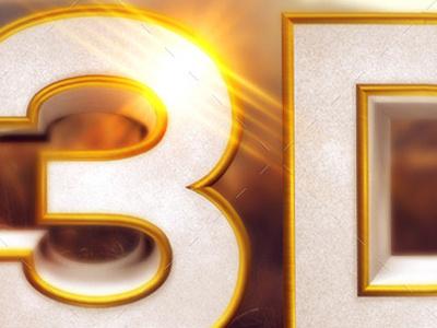 Gold Beveled 3d Text And Symbols event poster entertainment creative design cinema 4d celebration bright beveled 3d typography 3d object 3d design 3d 300 dpi