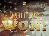 World War Won! Flyer and CD Template