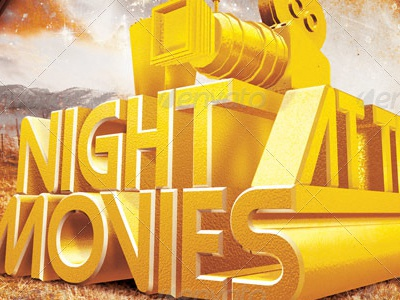 night at the movies church flyer ticket image tmb by mark taylor