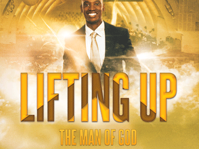 Lifting Up The Man Of God Church Flyer Template400