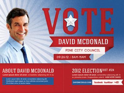 Voting Election Mailer Door Hanger Template By Mark Taylor