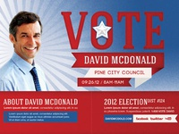 voting election mailer door hanger template