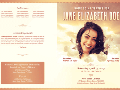Homeward Bound Funeral Program Template By Mark Taylor Dribbble