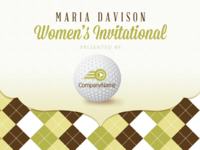 Women's Invitational Mailer-Invitation and Booklet