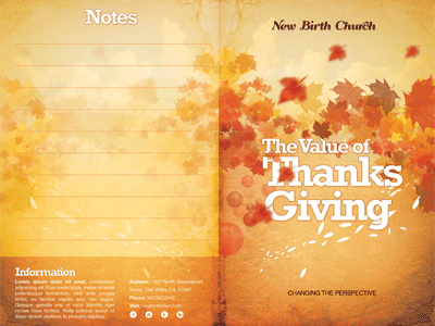 The Value of Thanksgiving Church Bulletin Template by Mark Taylor ...