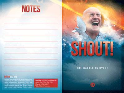 The shout church bulletin template by mark taylor dribbble the shout church bulletin template 40x300 maxwellsz
