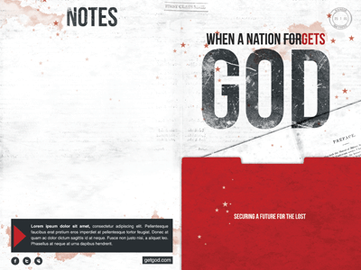 When a Nation Forgets God Bulletin Template by Mark Taylor - Dribbble