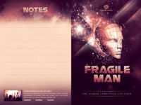 Fragile Man Church Bulletin Template
