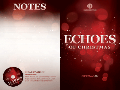 Echoes Of Christmas Church Bulletin Template By Mark Taylor
