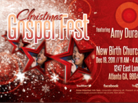 Christmas Gospel Fest Church Flyer Template