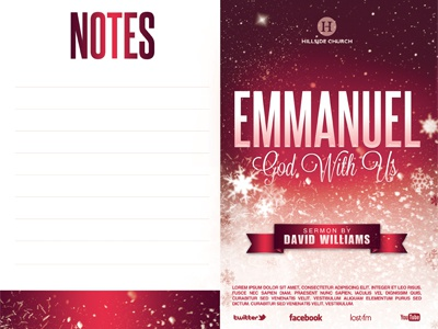 emmanuel church bulletin template by mark taylor dribbble dribbble