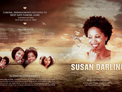 Life Of Love Funeral Program Template 006 By Mark Taylor Dribbble