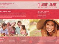 Bloom of Life Funeral Program Template 007